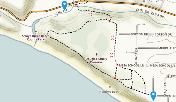 Arroyo Burro Beach County Park Map