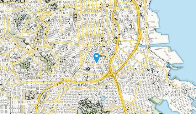 Bernal Heights Park Map