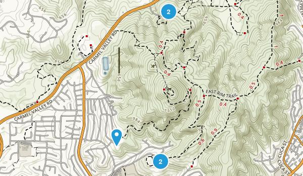 Black Mountain Open Space Map