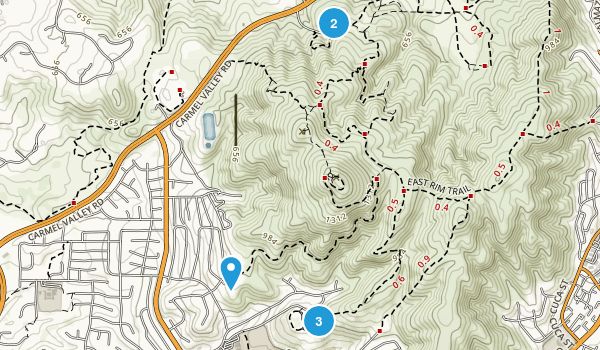 Black Mountain Open Space Map