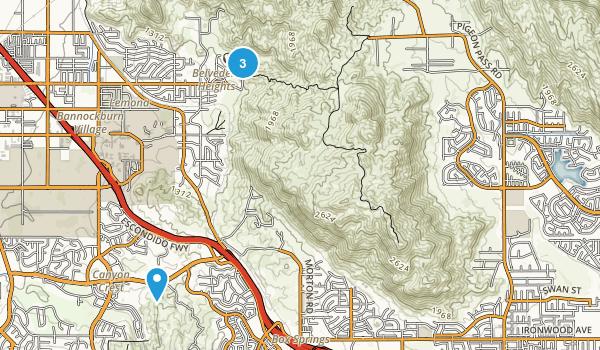 Box Springs Mountain Regional Park Map