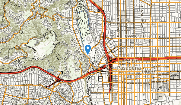 trail locations for Brookside Park