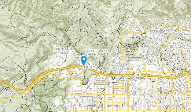 on chatsworth california map