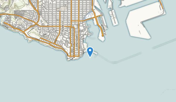 trail locations for Cabrillo Beach Park