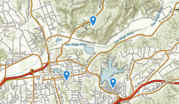 trail locations for Cactus County Park