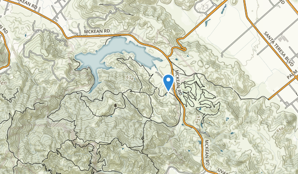 Calero Reservoir County Park Map