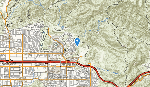 trail locations for Chumash Park