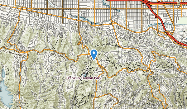 Coldwater Canyon Park Map