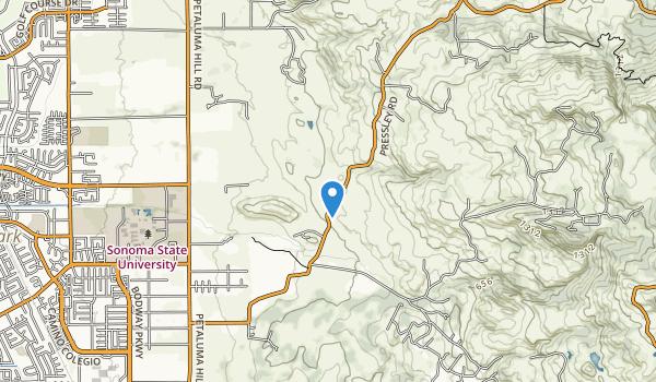 trail locations for Crane Creek Regional Park