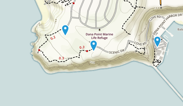 Dana Point Marine Life Refuge Map