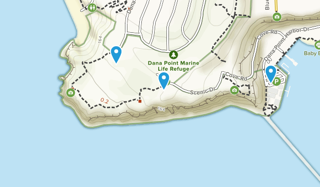 Dana Point Marine Life Refuge Map