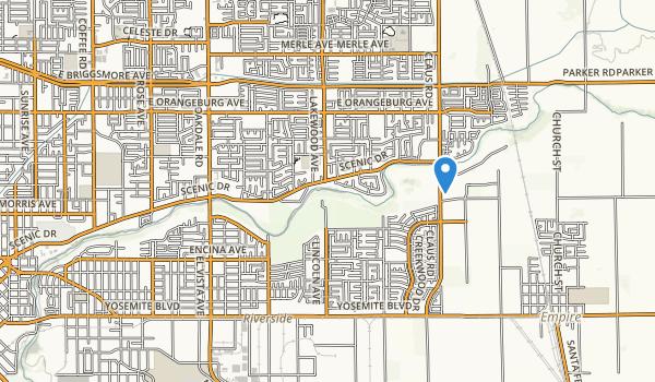 trail locations for Dry Creek Regional Park