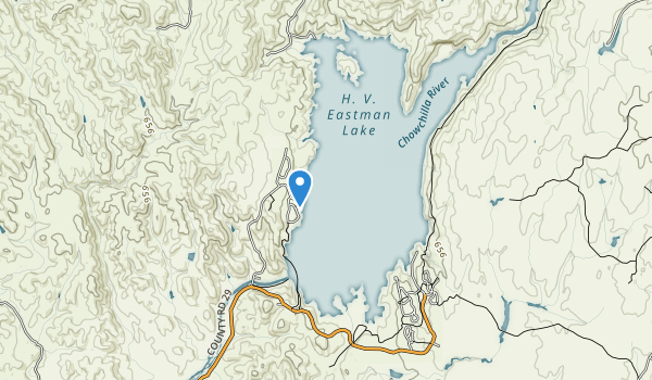 trail locations for Eastman Lake Recreation Area