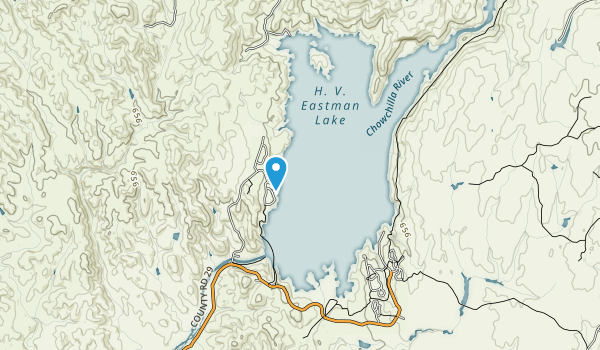 Eastman Lake Recreation Area Map
