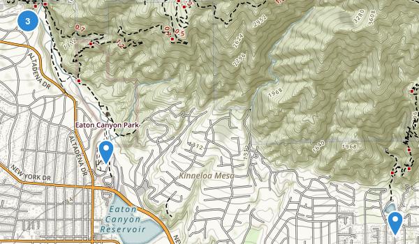 Eaton Canyon Park Map