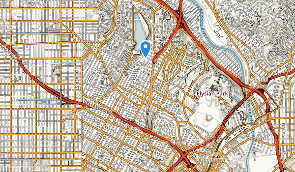 trail locations for Echo Park