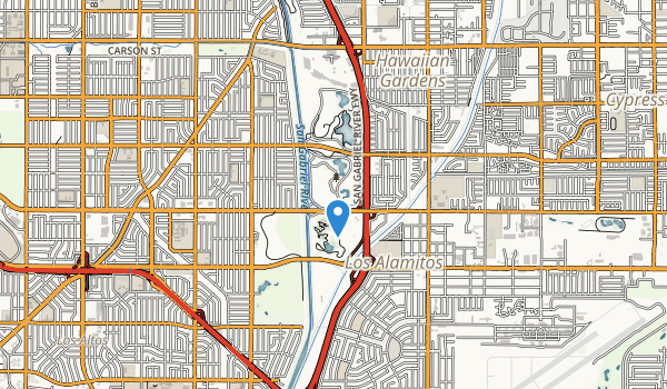 trail locations for El Dorado Park