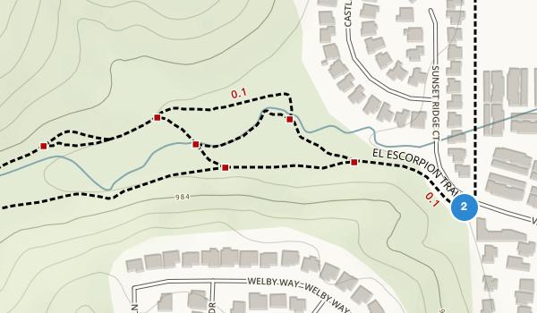 trail locations for El Escorpion Park