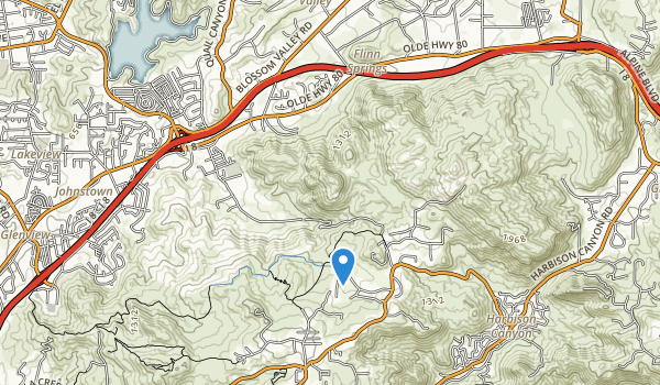 trail locations for Iris Canyon Greenbelt