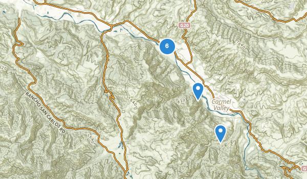 Garland Ranch Regional Park Map