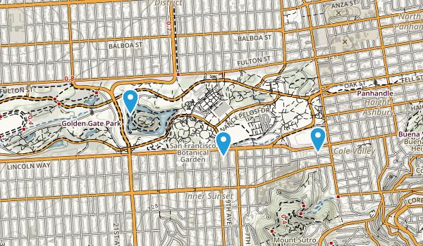 Golden Gate Park Map