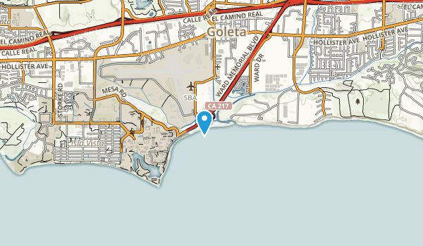 Goleta Beach State Park Map