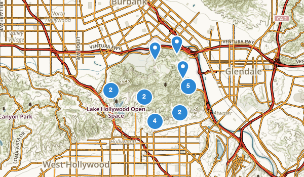 trail locations for Griffith Park
