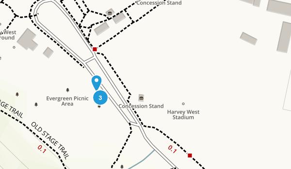 Harvey West Park Map