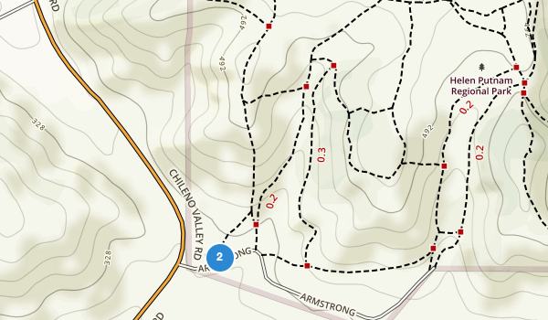 trail locations for Helen Putnam Regional Park