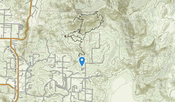 Hellhole Canyon County Open Space Preserve Map