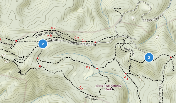 Jacks Peak County Park Map
