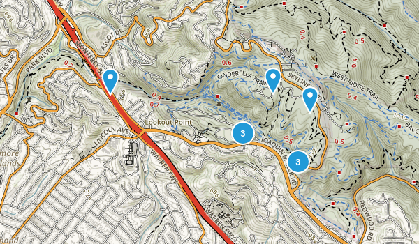 Joaquin Miller Park Map