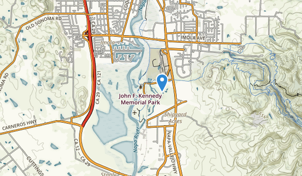 trail locations for John F Kennedy Memorial Park