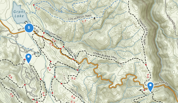 trail locations for Joseph D Grant County Park