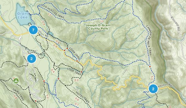 Joseph D Grant County Park Map