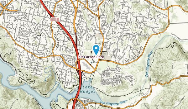 Kit Carson Park Map