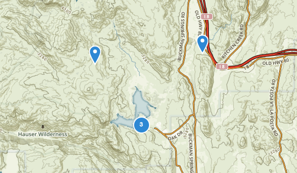 trail locations for Lake Morena County Park