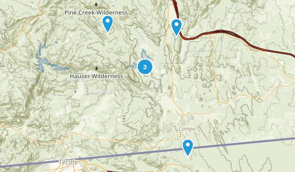 Lake Morena County Park Map