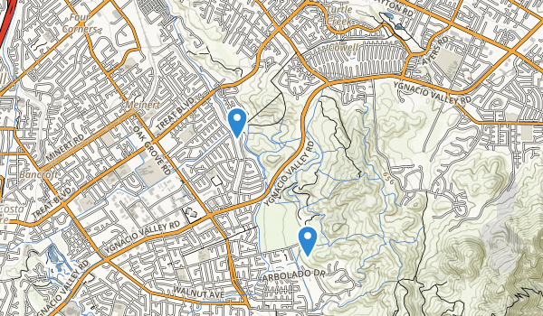 Lime Ridge Open Space Map