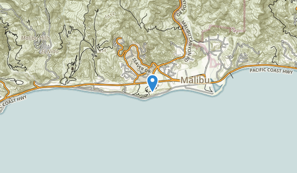 trail locations for Malibu Bluff State Recreation Area