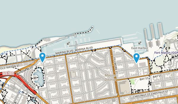 Marina Green Map