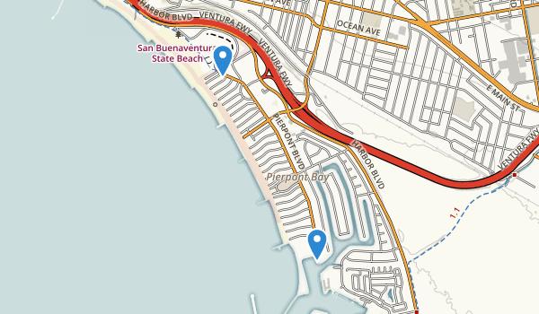 trail locations for Marina Park