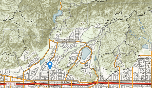 trail locations for Marshall Canyon Regional Park