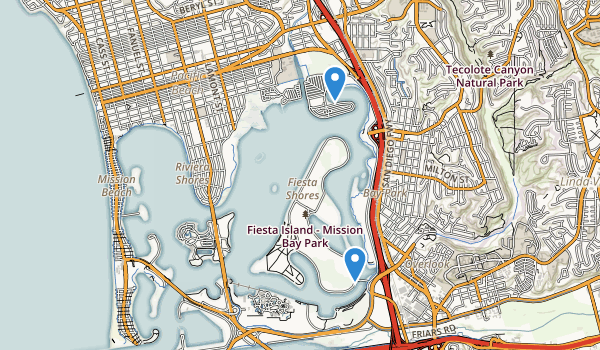 trail locations for Mission Bay Park