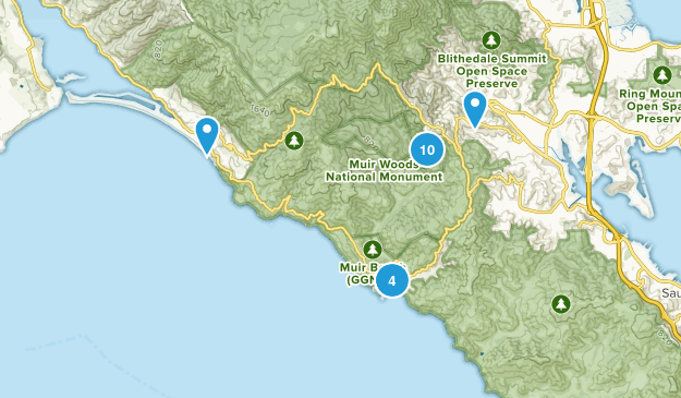 Muir Woods National Monument Map