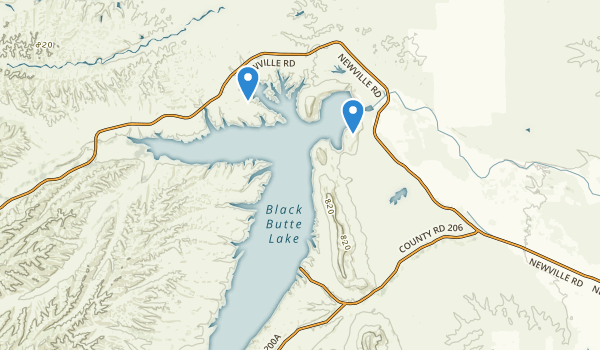 Orland Buttes Recreation Area Map