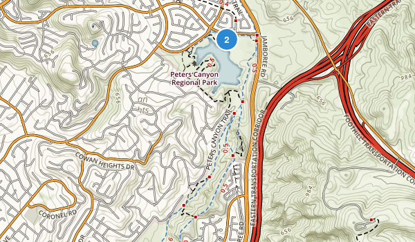 Peters Canyon Regional Park Map