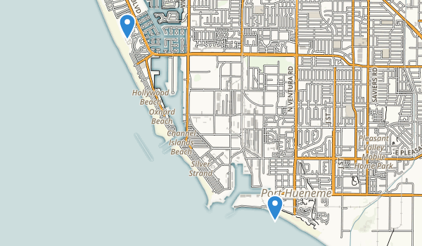 trail locations for Port Hueneme Beach Park