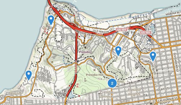 Presidio of San Francisco Map