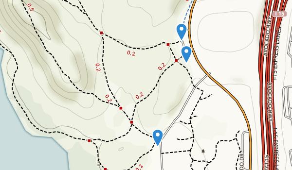trail locations for Rancho Bernardo Community Park